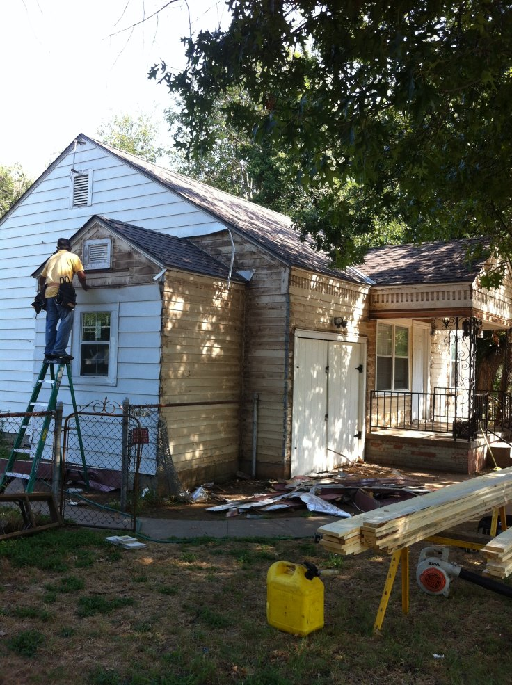 During Siding Project