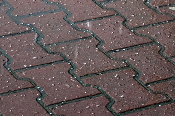 hail damage on shingles