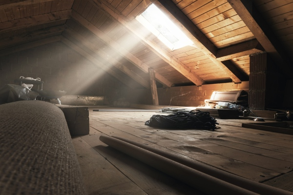 rays of run entering attic